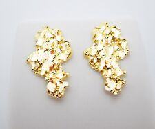 Men's 10k Yellow Gold Nugget Earrings