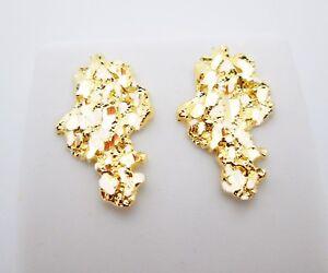 Men's 10k Yellow Gold Nugget Earrings