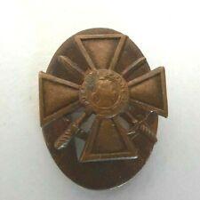 Croix Guerre 1914-1918 miniature boutonnière en bronze