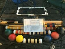 Vintage Eddie Bauer Croquet Set Complete with Metal Carry Case