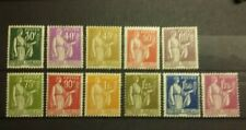 FRANCE SERIE TIMBRES N°280/289 TYPE PAIX NEUFS**/*