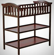 Cherry Nursery Changing Table Furniture Storage Shelves Home Bedroom Wooden New