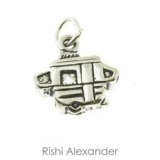 925 Sterling Silver Camper Trailer Charm Made in USA