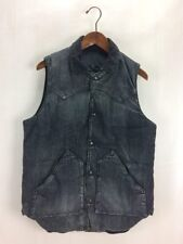 Rocky Mountain Featherbed Yoke switching down vest / size:38 / denim / BLK