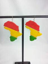 RASTA Wooden Africa One Love Colors Reggae Dangle Earring