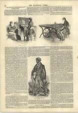 1847 NOUVELLE INVENTION DE L'IMPRIMERIE composant distributing Lancashire terrassier Gravure