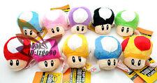 "Lot 10 Super Mario MUSHROOM 2.5"" Plush Toy-MW126"