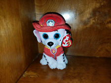 AUTHENTIC Ty Paw Patrol MARSHALL Plush Dog Beanie Baby Approx. 6 inches