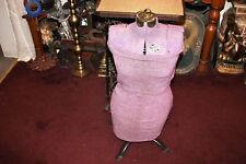 Antique True Shape Dress Form By Singer-Size 8-Purple Color-Adjustable Height