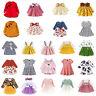 Cotton Ruffle Collar Printing Girl Baby Dress Casual Ruffle Long Sleeve Dresses