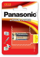 PANASONIC  CR123A CR123 CR17345 Photo Foto-Batterie 3V Lithium  im Blister
