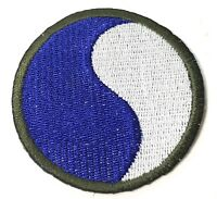 """WWII US 29TH INFANTRY DIVISION """"BLUE & GREY"""" SLEEVE PATCH INSIGNIA"""