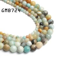 """Natural Colorful Amazonite Gemstone Round Beads 4mm 6mm 8mm 10mm 12mm 14mm 15"""""""