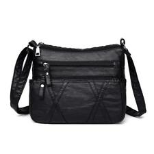 Solid Color Shoulder Messenger Handbags Women Leather Small Crossbody Bag N10