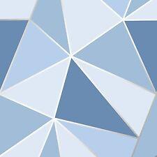 Apex Geometrische TAPETEN BLAU - feine Dekor fd41992 Dreiecke