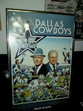 Dallas Cowboys 1984 Silver Season Poster Schedule Landry Staubach Lilly