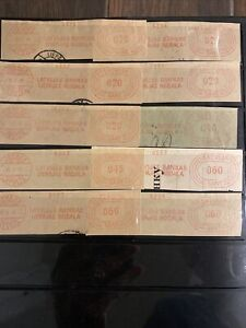 Latvian First Independence Bank Postage Labels