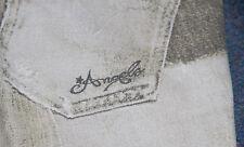 Le ragazze Roberto Cavalli Angels jeans bianco grigio età 6 RARA D&G REPLAY MOSCHINO