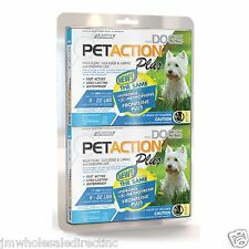 New ! PetAction Plus for Dogs 6 Doses(Choose Your Size) Flea and Tick Prevention