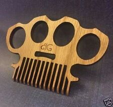 Brass Knuckles Beard Comb, Knuckle Duster Beard Comb, Beard Comb, Custom Comb