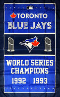 Toronto Blue Jays World Series Championship Flag 3x5 ft Blue Banner Man-Cave