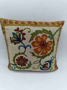 """Pier 1 One Beaded Doily Easter//Spring Decorative Throw Pillow 18/""""x12/"""" SOLD OUT"""