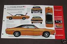 1970-1971 MERCURY CYCLONE SPOILER Car SPEC SHEET PHOTO BOOKLET BROCHURE