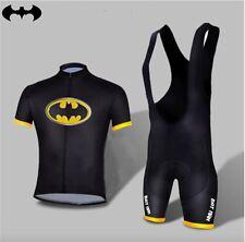 Completo Ciclismo Batman abbigliamento maglia salopette 2 Pz.