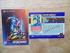 1992 MARVEL UNIVERSE 3 CAPTAIN AMERICA PROTOTYPE CARD SIGNED RON LIM, WITH POA