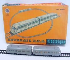 FJ France SNCF AUTORAIL HO Plastic Track TEE TRAIN Battery Operated MIB`60 RARE!