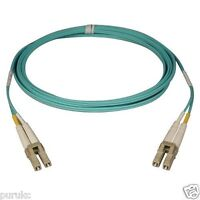 10m LC-LC Duplex 50/125 Multimode 10 Gb Fiber Patch Cable Aqua om3 - 6088