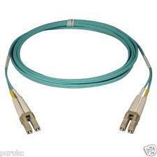 10m LC-LC Duplex 50/125 Multimode 10 Gb Fiber Patch Cable Aqua om3 - 6088
