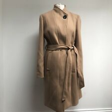 MARKS AND SPENCERS Coat Size 14 BNWT Camel Brown Tie Classic