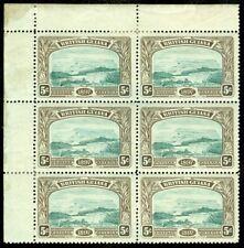 EDW1949SELL : BRITISH GUIANA 1898 Scott #154 Beautiful Block of 6 Cat $345++