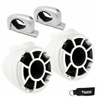 Wet Sounds REV 8 Fixed Aluminum Clamp 8 Inch Tower Speakers White Pair
