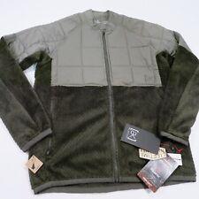 $240 Burton Men's AK Hybrid Insulated Hi Loft Fleece Jacket Large Green NWT