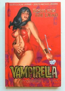 Vampirella Roses For The Dead Signed Hardcover Dynamite Graphic Novel Comic Book