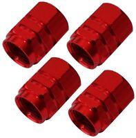 4x bouchons de valve rouge en alu pour auto moto vélo voiture utilitaire
