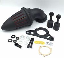 H. Matte Black Bullet Air Cleaner Filter For Harley Softail Fat Boy Dyna Street