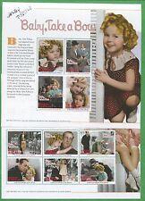 Shirley Temple Baby Take a Bow Set of 2 Souvenir Stamp Sheets Antigua E59