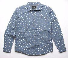 Hurley Polka Dots Long Sleeve Shirt (Blue) M