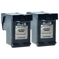 2PK 901 XL Black Ink Cartridge CC654AN For HP OfficeJet 4500 G510a G510g G510n