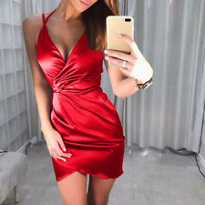 Women Sexy-V Summer clubwear Bodycon Evening Party Cocktail Short Mini Dresses