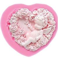 Stampo silicone decorazione torta dolci pasta zucchero ANGELO ROSE Cake Design