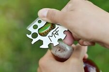 Multitool Credit Card Tool Keychain Stainless Steel Survival Tactical for EDC