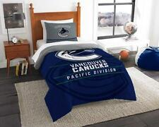 Vancouver Canucks - 2 Pc TWIN Size Printed Comforter/Sham Set