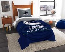 Vancouver Canucks - 2 Pc TWIN Size Printed Comforter/Sham Set