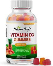 Vitamin D3 Gummies 2000IU Bone Strength Heart Health Immune Support Booster