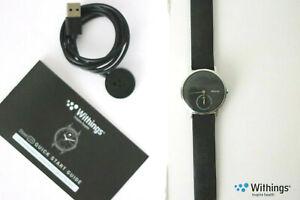 Withings Steel HR Sport 36mm Smartwatch Schwarz OVP Nokia Fitnesstracker Pulsuhr