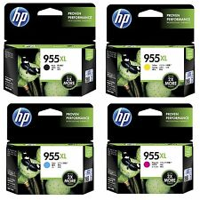 4x Genuine HP955XL Black+Cyan+Magenta+Yellow ink cartridges For HP Pro8210,8710